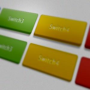 カラフルなボタンが作れる汎用レイヤースタイル。